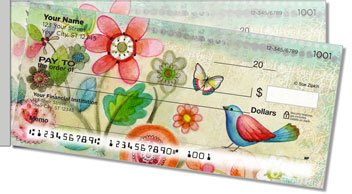 Zipkin Tree of Life Side Tear Personalized Checks