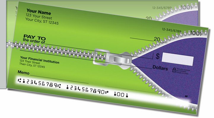 Zipper Side Tear Personal Checks