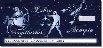 Zodiac Symbol Personalized Checks